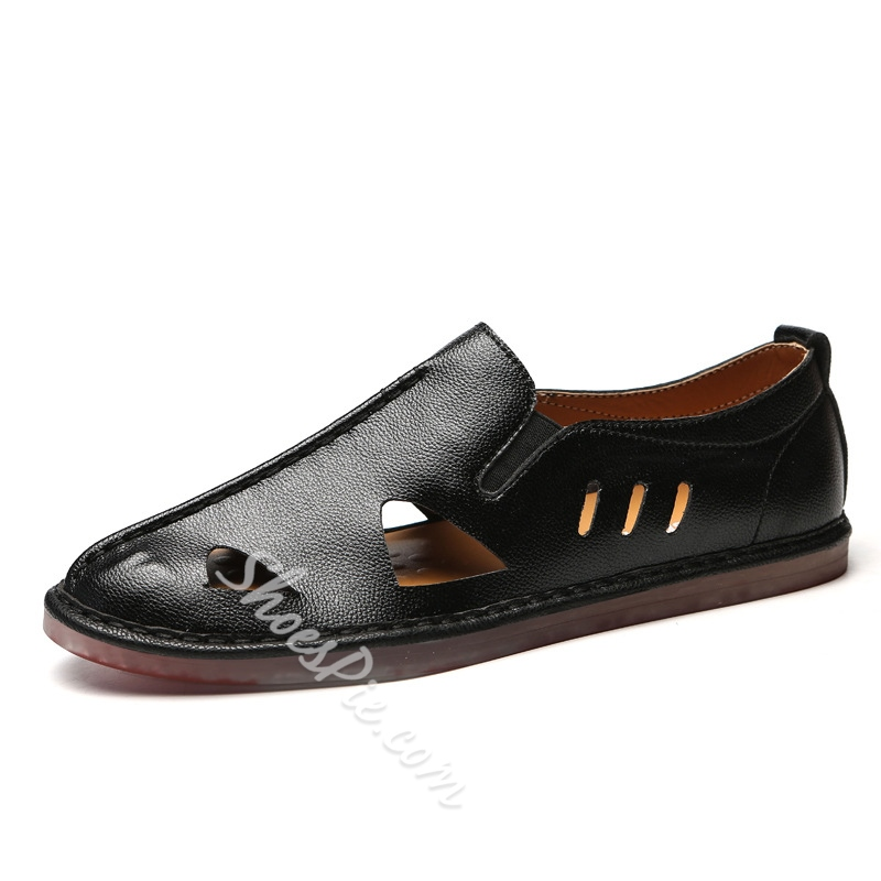 Hollow Casual Round Toe Men's Loafers