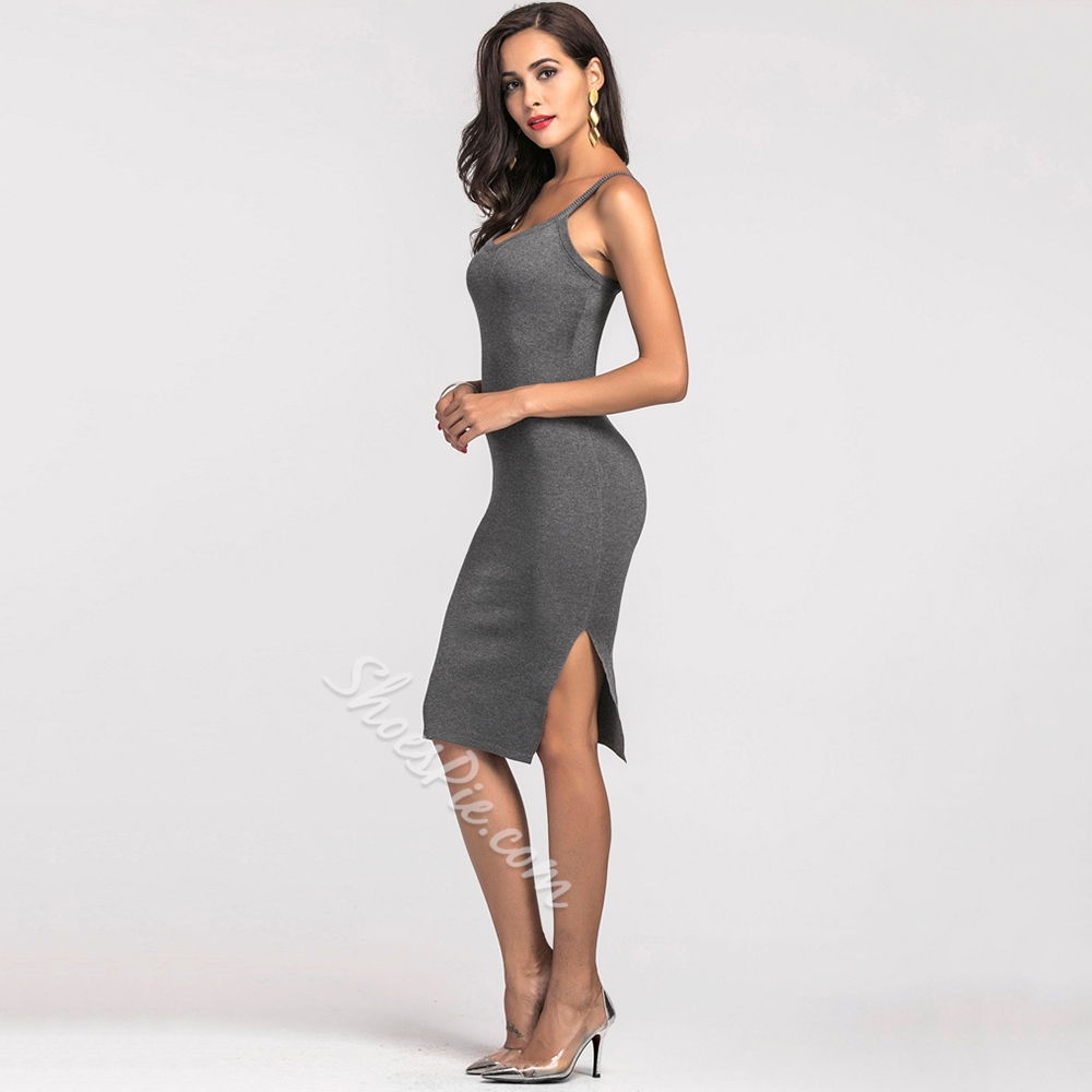 Shoespie Stripe Plain Women's Bodycon Dress