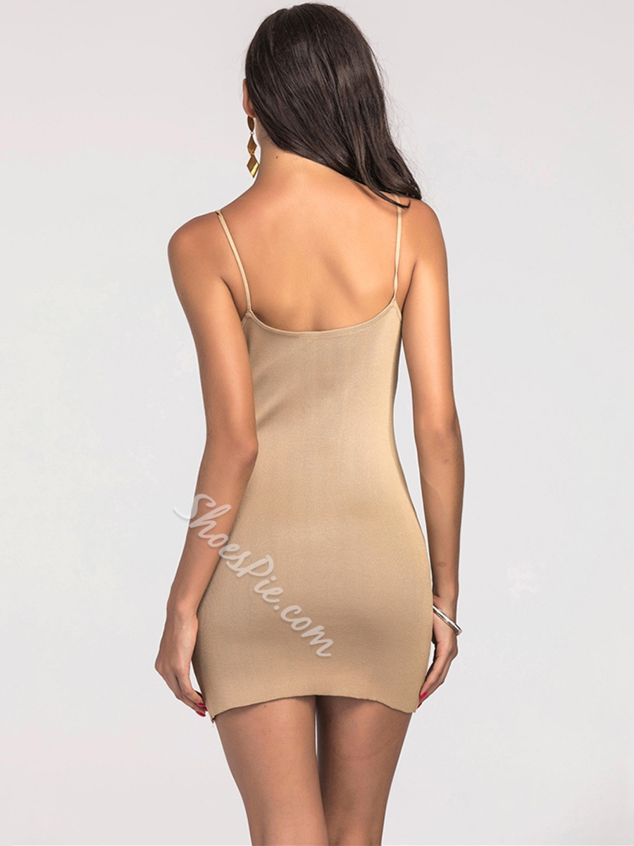 Shoesipe Patchwork V Neck Women's Bodycon Dress