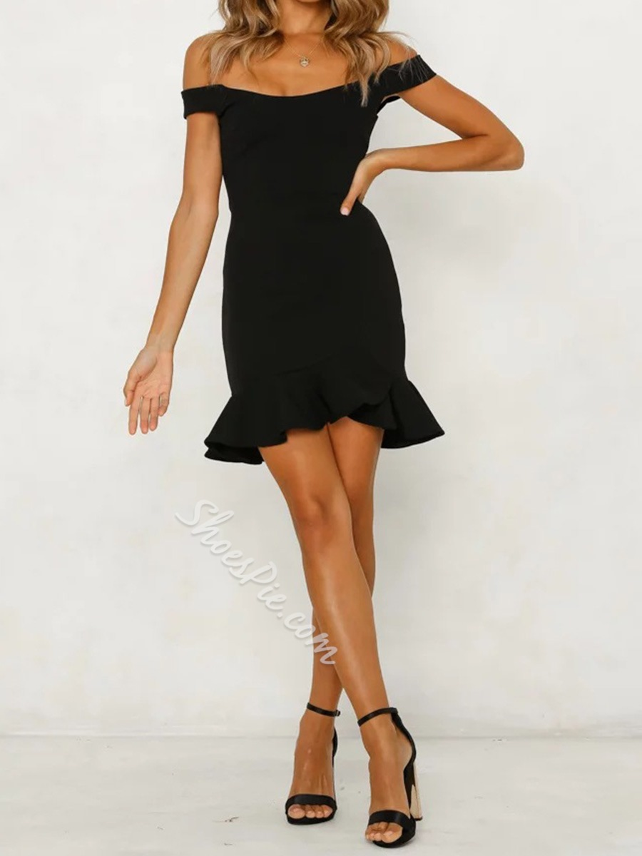 Shoespie Off-The-Shoulder Pullover Women's Bodycon Dress