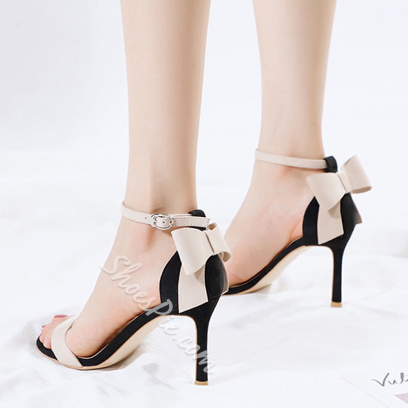 Bow Line-Style Buckle Stiletto Heels