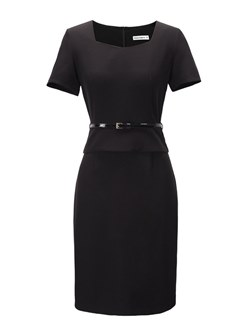 Shoespie Double-Layer Office Lady Plain Women's Bodycon Dress