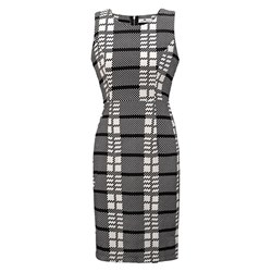 Shoespie Office Lady Plaid Women's Bodycon Dress