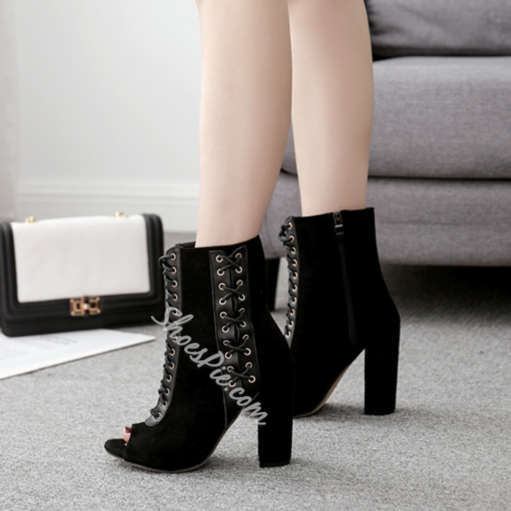 Shoespie Cross Strap Plain Ankle Boots