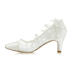 Shoespie Rhinestone Beads Patchwork Bridal Shoes