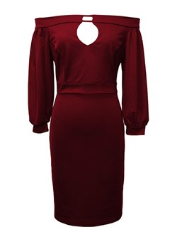 Shoespie Slash Neck Plain Sexy Women's Bodycon Dress