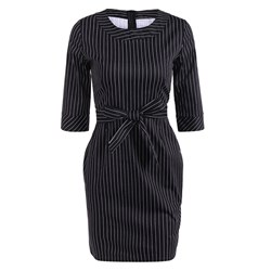 Shoespie Bowknot Office Lady Women's Bodycon Dress