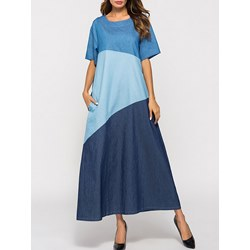 Shoespie Color Block Regular Women's A-Line Dress