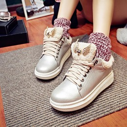 Shoespie Platform Lace-Up Women's Sneakers