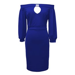 Shoespie Slash Neck Plain Pullover Women's Bodycon Dress