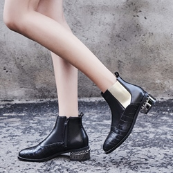 Shoespie Side Zipper Chelsea Boots