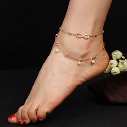 Pearl Twisted Double Anklets