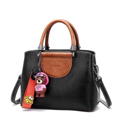 Shoespie Cute Color Block Small Tote Bag