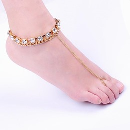Dazzling Diamante Foot Ring Anklets