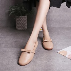 Cute Bowknot Round Toe Women's Loafers