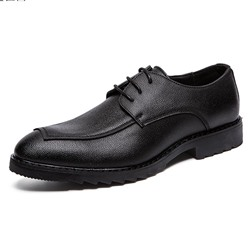 Professional Black Lace-Up Men's Loafers