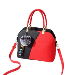 Shoespie Shell Color Block Patchwork Tote Bag