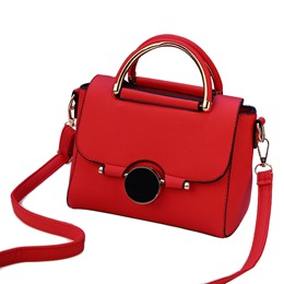 Shoespie Plain PU Embossing Handbag