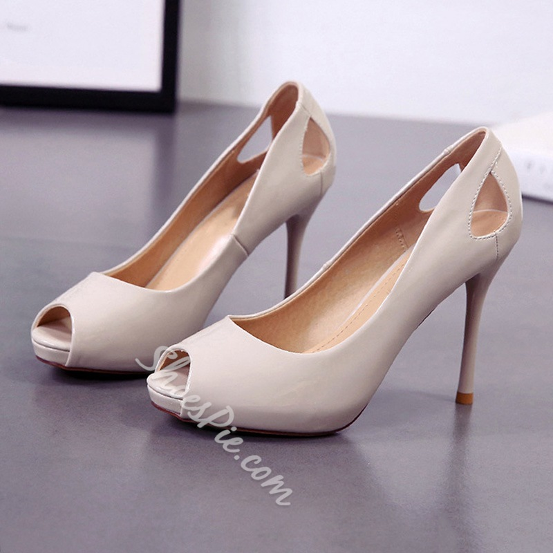 Hollow Peep Toe Casual Stiletto Heels