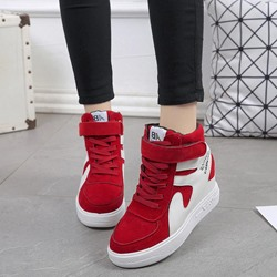 Shoespie Casual Lace-Up Women's Wedge Sneakers