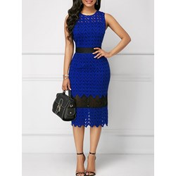 Shoespie Office Lady Hollow Lace Women's Bodycon Dress