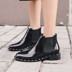 Black Rivet Casual Chelsea Boots