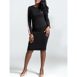 Shoespie Office Lady Stripe Fall Women's Bodycon Dress