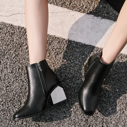 Casual Black Fashion Ankle Boots