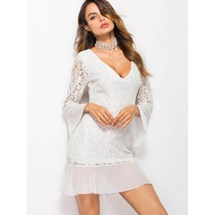 Shoespie Patchwork Lace Pullover Women's Bodycon Dress