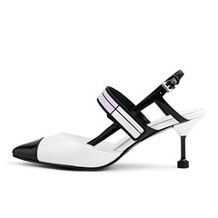 Black & White Buckle Banquet High Heels