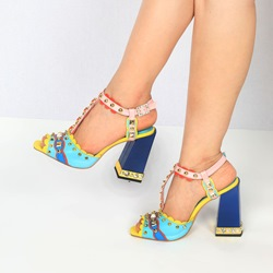 Shoespie Rivet Banquet High Heels
