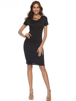 Shoespie Pullover Plain Regular Women's Bodycon Dress