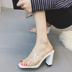 Jelly See-Through Slip-On High Heels