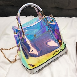 Shoespie PVC Sequins Handbag
