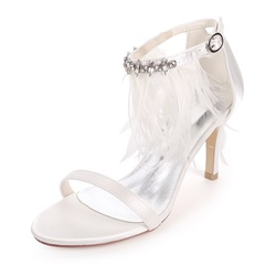Appliques Rhinestone Stiletto Bridal Shoes