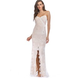 Shoespie Mermaid Lace Split Women's Maxi Dress