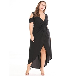 Shoespie Asymmetric Hollow Women's Maxi Dress