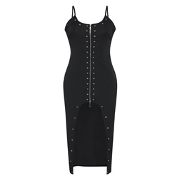 Shoespie Backless Rivet Women's Bodycon Dress