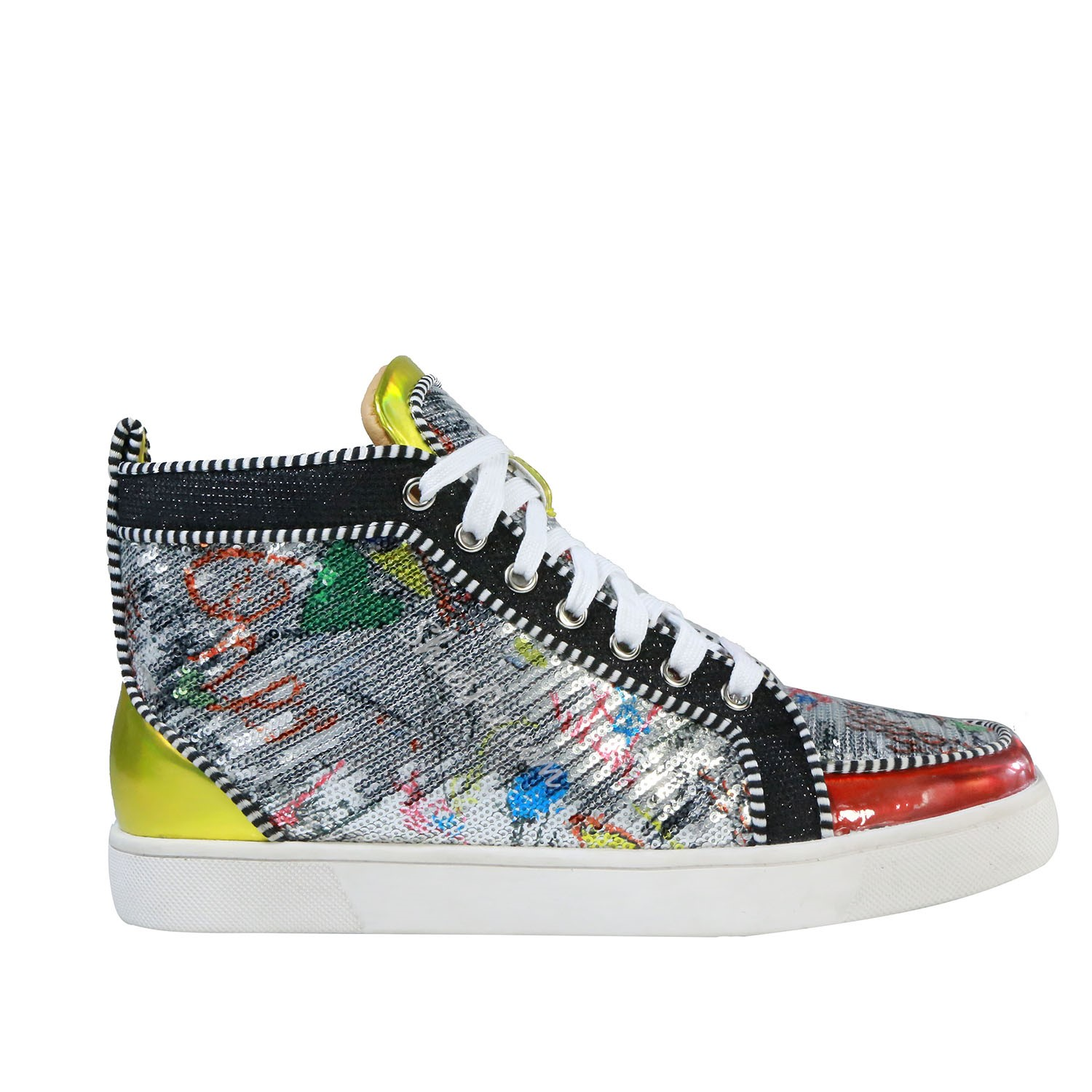 Color Block High Upper Men's Sneakers