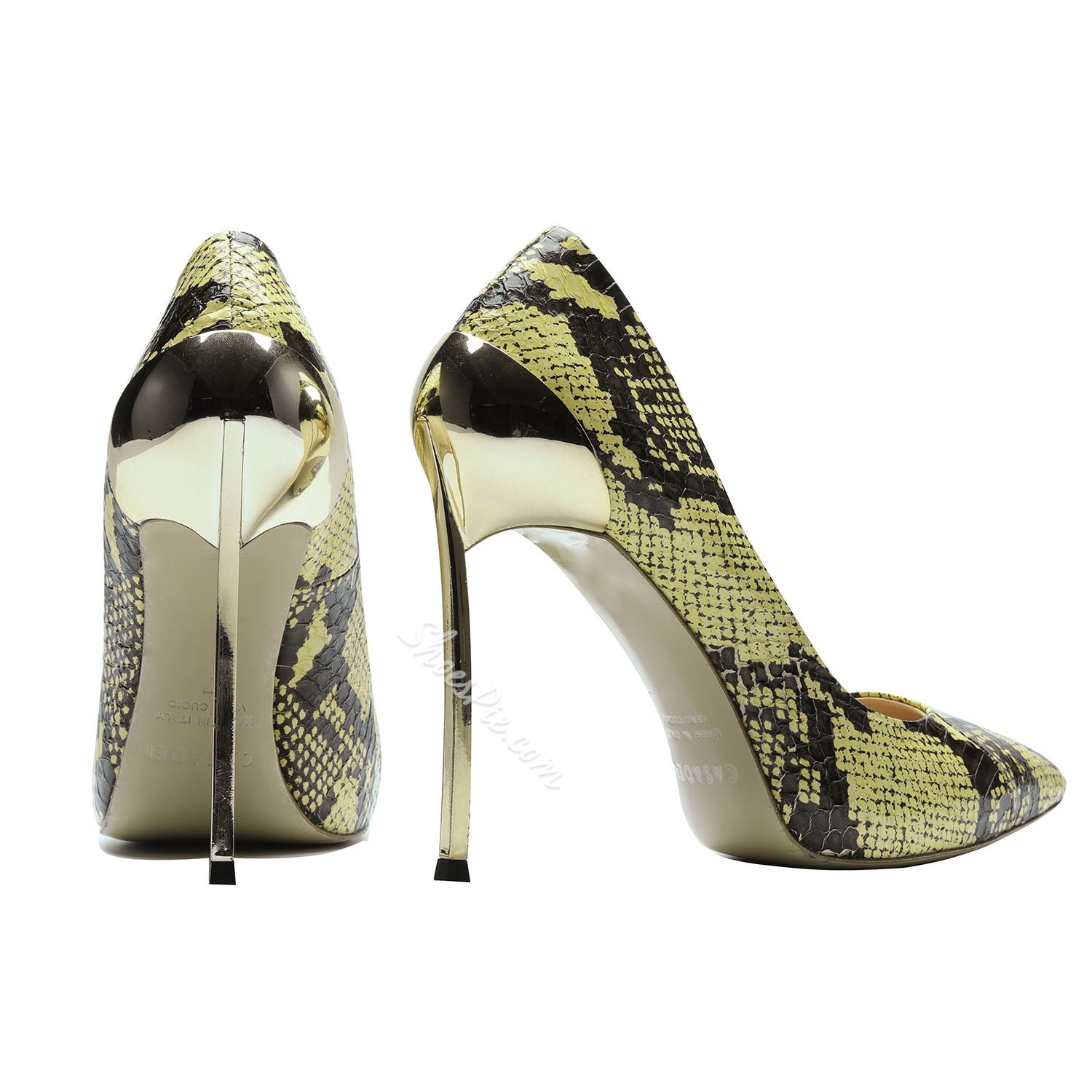 Serpentine Pointed Toe Stiletto Heels