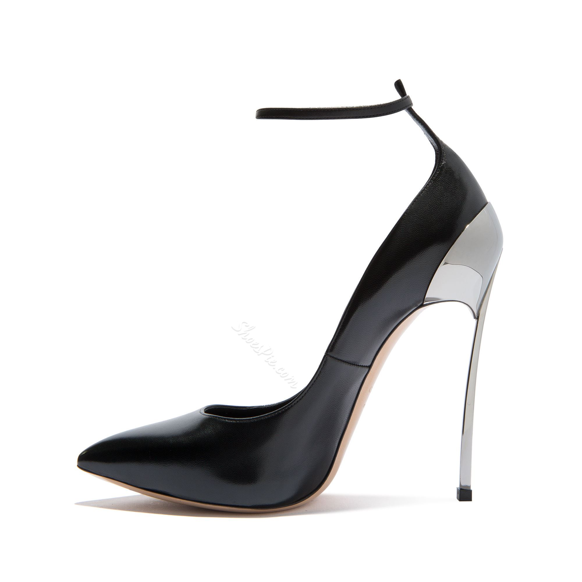 Black Pointed Toe Stiletto Heels