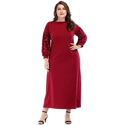 Shoespie Knitted Fabrics Plusee Women's Maxi Dress