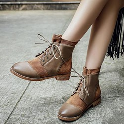 Shoespie Casual Lace-Up Ankle Boots