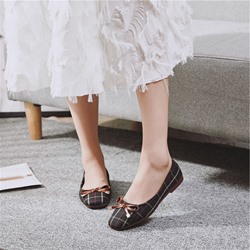Cute Bow Slip-On Casual Loafers