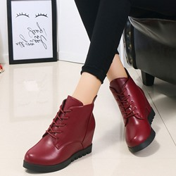 Shoespie Thread Casual Hidden Heel Ankle Boots