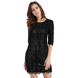 Shoespie Sequins Elegant Regular Women's Bodycon Dress
