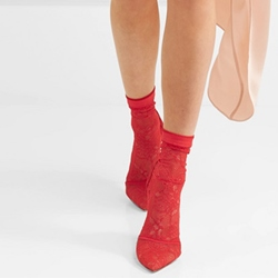 Red Sexy Slip-On Pointed Toe Ankle Boots