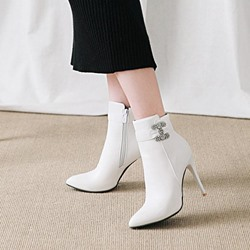 Rhinestone Casual Stiletto Heel Ankle Boots