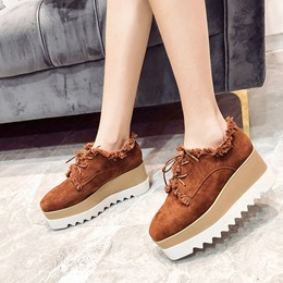 Fringe Platform Casual Lace-Up Women's Sneakers