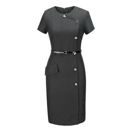 Shoespie Button Office Lady Regular Women's Bodycon Dress